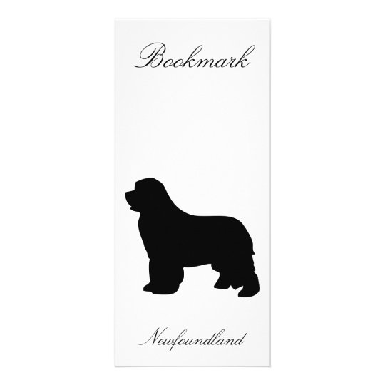 Newfoundland dog rack card bookmark, silhouette