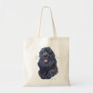 Newfoundland dog shopping tote bag, newfie design