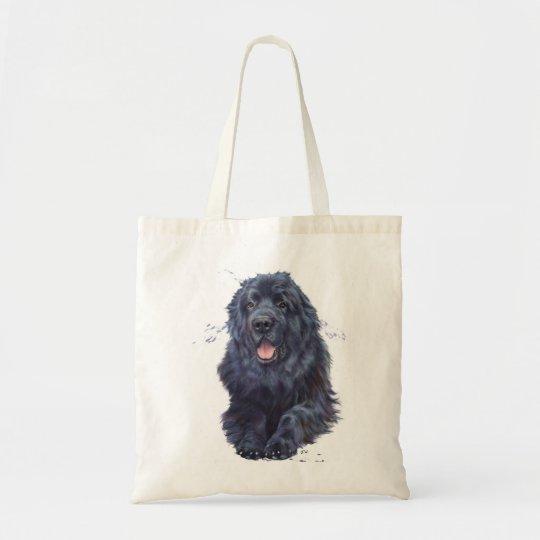 Newfoundland dog shopping tote bag, newfie design
