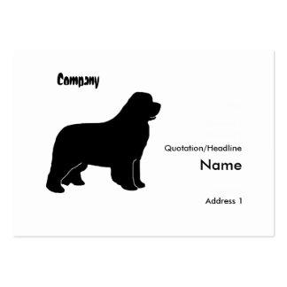 Newfoundland dog silhouette business card templates