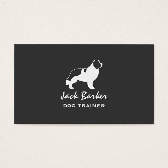 Newfoundland Dog Silhouette - Landseer Business Card