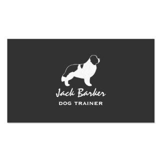 Newfoundland Dog Silhouette - Landseer Pack Of Standard Business Cards