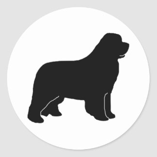 Newfoundland dog silhouette stickers