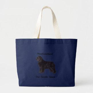 Newfoundland Dog The Gentle Giant Large Tote Bag