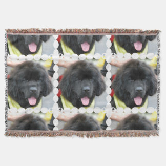 Newfoundland Dog Throw Blanket