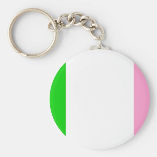 Newfoundland flag basic round button key ring