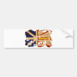 Newfoundland Flag Bumper Sticker