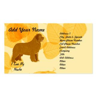 Newfoundland - Gold Leaves Design Pack Of Standard Business Cards