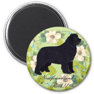 Newfoundland - Green Leaves Design Magnet