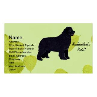 Newfoundland - Green Leaves Design Pack Of Standard Business Cards