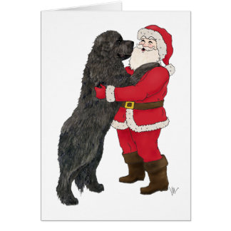Newfoundland Jowly Christmas Greeting Card