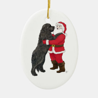 Newfoundland Jowly Christmas Greeting Christmas Ornament