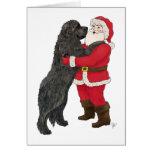 Newfoundland Jowly Christmas Greeting Greeting Card