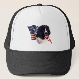 Newfoundland (landseer) Flag Trucker Hat