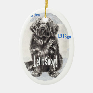 "Newfoundland ""Let It Snow"" Christmas Ornament"