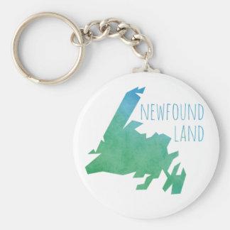 Newfoundland Map Key Ring