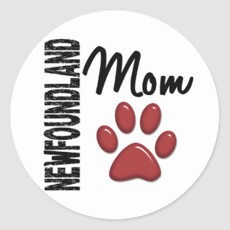Newfoundland Mom 2 Classic Round Sticker