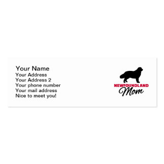 Newfoundland Mom Pack Of Skinny Business Cards