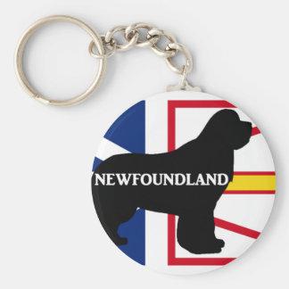 Newfoundland name silo on flag.png basic round button key ring
