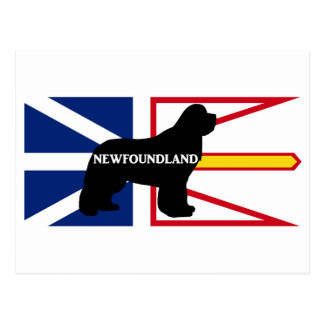 Newfoundland name silo on flag.png postcard