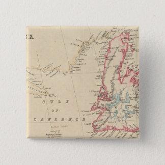 Newfoundland, New Brunswick, Nova Scotia 15 Cm Square Badge