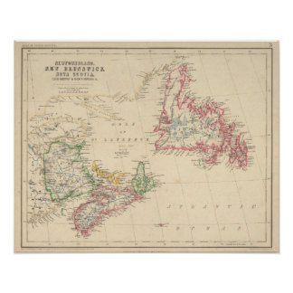 Newfoundland, New Brunswick, Nova Scotia Poster