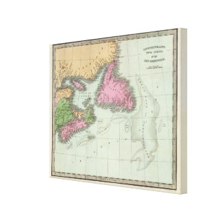 Newfoundland Nova Scotia And New Brunswick 2 Canvas Print