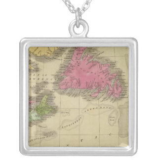 Newfoundland Nova Scotia And New Brunswick 2 Silver Plated Necklace