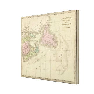 Newfoundland, Nova Scotia, and New Brunswick Canvas Print