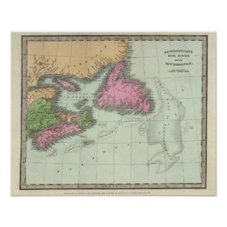 Newfoundland Nova Scotia And New Brunswick Poster