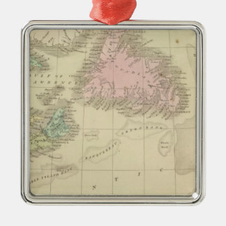 Newfoundland, Nova Scotia, and New Brunswick Silver-Colored Square Decoration