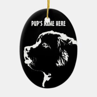 Newfoundland Ornament Personalized Dog Decoration