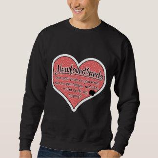 Newfoundland Paw Prints Dog Humor Sweatshirt
