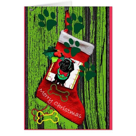 Newfoundland Puppy Christmas Card