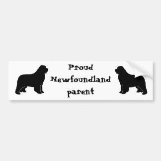 newfoundland silhouette bumper sticker