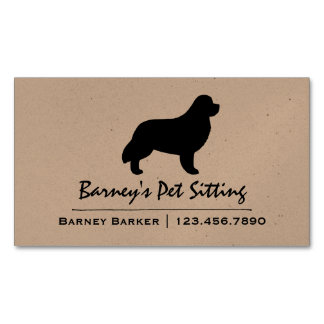 Newfoundland Silhouette Magnetic Business Cards