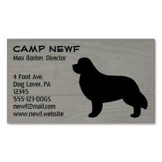 Newfoundland Silhouette Wood Style Magnetic Business Cards