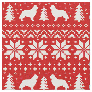 Newfoundland Silhouettes Christmas Pattern Fabric