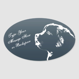 Newfoundland Stickers Newfoundland Dog Stickers