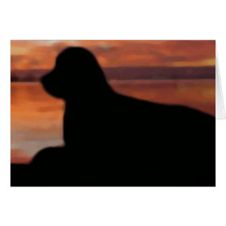 Newfoundland Sunset Sympathy Card