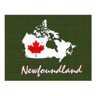 Newfoundland tartan Customize Canada postcard