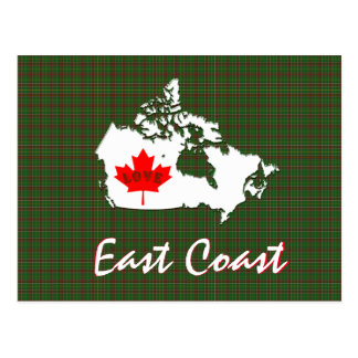 Newfoundland tartan Customize  East Coast postcard