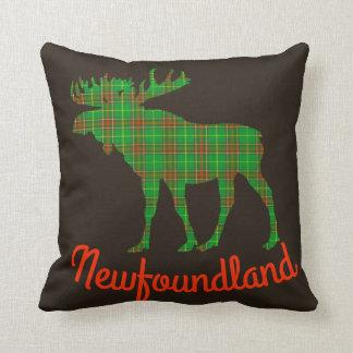 Newfoundland Tartan Decorator throw pillow moose