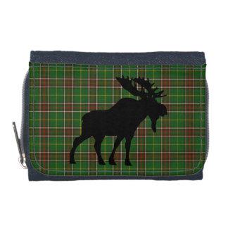 Newfoundland  Tartan Denim wallet moose