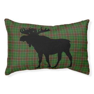 Newfoundland Tartan dog pet bed pillow moose