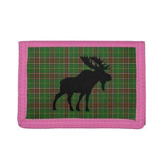 Newfoundland  Tartan wallet moose pink