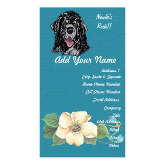 Newfoundland - Turquoise Floral Design Pack Of Standard Business Cards