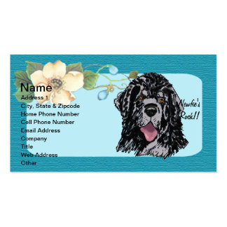Newfoundland - Turquoise Floral Design Pack Of Standard Business Cards