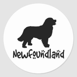 Newfoundland With Cool Text Classic Round Sticker