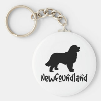 Newfoundland With Cool Text Key Ring